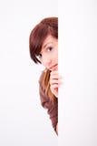 Schöner jugendlich Mädchen Peek Stockbilder