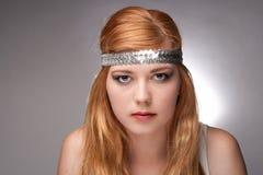 Schöner junge Frau Hippie lizenzfreies stockbild