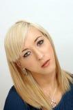 Schöner junger blonder Headshot Stockbild