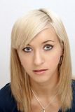 Schöner junger blonder Headshot Lizenzfreie Stockfotos