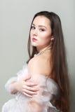 Schöner junger Brunette Lizenzfreie Stockbilder