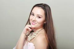 Schöner junger Brunette Stockbilder