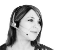 Schöner junger Kundendienst-Repräsentant Stockfoto