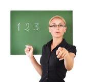 Schöner junger Lehrer lizenzfreie stockfotografie