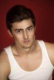 Schöner junger Mann in einem Hemd Lizenzfreie Stockfotos