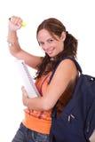 Schöner junger weiblicher Kursteilnehmer Stockfoto