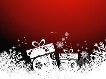 Schöner künstlerischer Hintergrund des Weihnachtsgeschenks Stockbilder