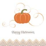 Schöner Kürbis mit Strudeln Kürbis für Halloween-Partei Lizenzfreies Stockbild