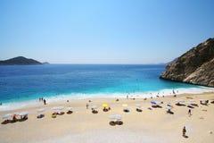 Schöner Kaputas-Strand in der Türkei Stockfotografie