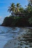 Schöner karibischer Sandstrand in Nicaragua Amerika stockfoto