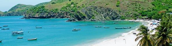 Schöner karibischer Strand Stockfoto