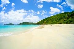 Schöner karibischer Strand stockbilder