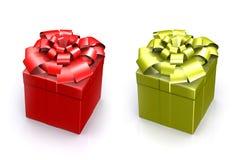 Schöner Kasten mit einem Geschenk mit einem Bogen Lizenzfreies Stockfoto