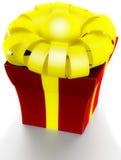 Schöner Kasten mit einem Geschenk mit einem Bogen Lizenzfreie Stockfotos