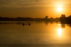 Schöner lanscape Sonnenuntergang in Thailand Lizenzfreie Stockfotos