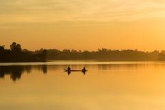 Schöner lanscape Sonnenuntergang in Thailand Stockfotos