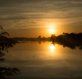 Schöner lanscape Sonnenuntergang in Thailand Stockbilder