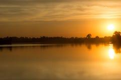 Schöner lanscape Sonnenuntergang in Thailand Stockfotografie