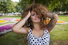 Schöner Lebensstil Glück in der Sommernahaufnahme Lizenzfreies Stockbild