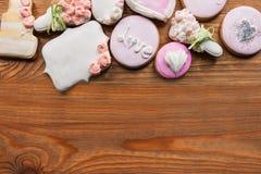 Schöner Lebkuchen mit freiem Raum lizenzfreie stockbilder