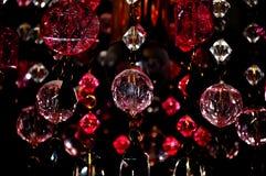 Schöner Leuchterkristallhintergrund Stockfoto