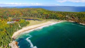 Schöner Luftpanoramablick des Acadia-Nationalparks in Maine Lizenzfreies Stockbild