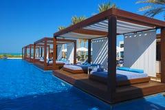 Schöner Luxusplatzerholungsort und -badekurort Stockfoto