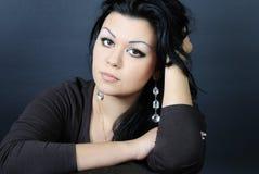 Schöner Mädchen Brunette Stockbild