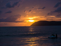Schöner malaysischer Sonnenuntergang Stockbild