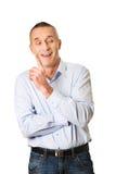 Schöner Mann, der eine Idee hat Lizenzfreie Stockfotos