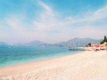 Schöner Meerblick des Mittelmeerwassers an Lizenzfreies Stockfoto