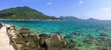 Schöner Meerblick in Koh Nang Yuan-Insel Thailand lizenzfreie stockbilder
