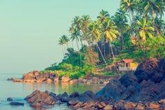 Schöner Meerblick Schöner tropischer Platz für Entspannung Stockbild