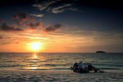 Schöner Meerblick während des Sonnenaufgangs, LIpe Stockfotografie