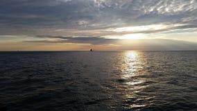 Schöner Michigansee Stockbilder