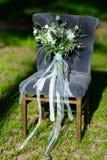 Schöner moderner üppiger Brautblumenstrauß steht Lizenzfreies Stockbild
