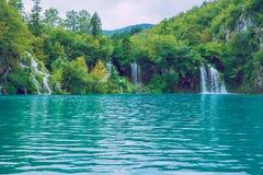 Schöner Morgen auf Kroatisch stockfotos