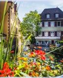 Schöner Morgen in Colmar, Elsass, Frankreich lizenzfreies stockfoto