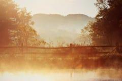 Schöner Morgen-Herbst in Ohio lizenzfreies stockbild