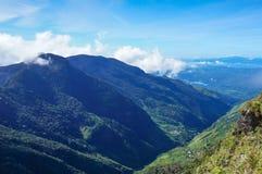 Schöner Morgen an kleiner Adams-Spitze in Ella, Sri Lanka Lizenzfreies Stockfoto