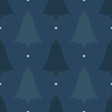 Schöner nahtloser Hintergrund für frohe Weihnachten oder neues Jahr Kiefer auf einem dunklen Hintergrund Muster für Packpapier od Lizenzfreie Stockfotografie
