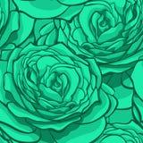 Schöner nahtloser Hintergrund mit blauen Rosen Stockfoto