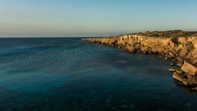 Schöner natürlicher Felsen nahe von Agia Napa, von Cavo Greco und von Protara Stockfoto