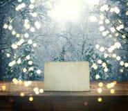 Schöner Natur Weihnachtshintergrund Stockfotos