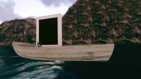1 schöner Naturbootsrahmen lizenzfreie abbildung