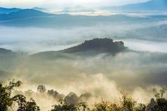 Schöner Nebel in Thailand Lizenzfreies Stockfoto