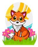 Schöner netter Fox im Gras Stockfotografie