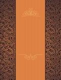 Schöner orange mit Blumenhintergrund Stockbilder
