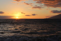 Schöner Ozean-Sonnenuntergang Lizenzfreie Stockfotografie