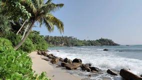 Schöner Ozeanufer Sri Lanka Slowmotion 4k stock video footage